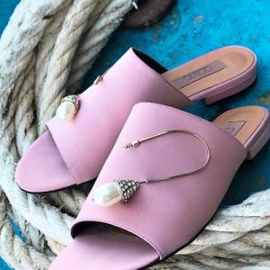 Pearl Embellishment Sandals